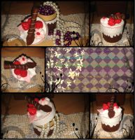 Chocolate Mini Cake Box by SpinaOscura