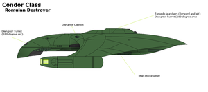 Condor Class: Romulan Star Navy by PaintFan08