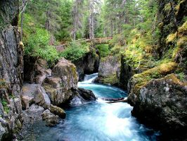 Winner Creek Gorge, Alaska by LiquidDenny