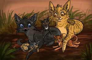 .::Swiftflight's Family::. by collie-rado