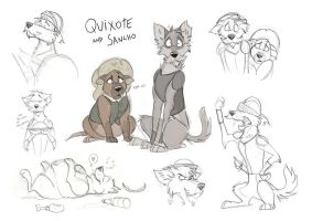 Dog Quixote Sketchdump by Skailla