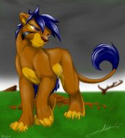 Vexx the lion by demented1