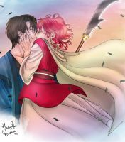 Hak and Yona first Kiss by Keep-the-Dream-alive