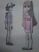 Dipper and Mabel (Ben 10 Omniverse styled) by AngeloCN