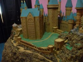 Hogwarts Castle Paper Model - The Grounds by ana-wandmaker