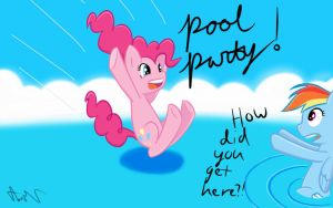 Pinkie Pool Party by LigerStorm