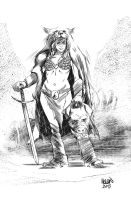 Red Sonja by kevinmellon