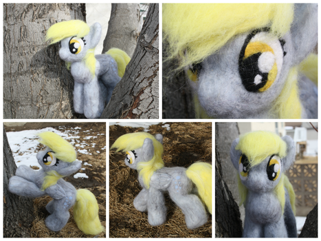 My little pony Derpy Hooves needle felted plush by NightyNighttt