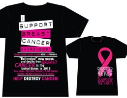 Breast Cancer Awareness T-shirt Design by louVVis