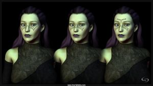 Barriss Offee Future Face Tattoos V2 by Crimsonight