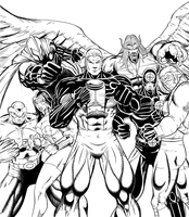Angel Corps inks by hulkdaddyg