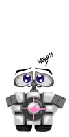 WALL.E the Companion cube by PurpleRAGE9205