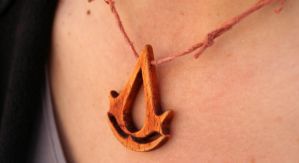 Assassin's Creed logo necklace by eyes1138