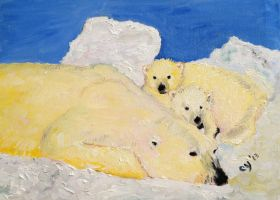 Polar Bears by CarolynYM