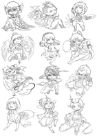 [SoA]: All those chibis [Sketch] by Zungie