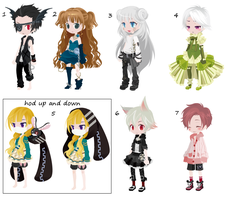 FREE/TRADE Adoptables 4 (SOLD) by monsters-boy
