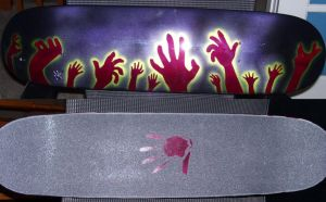 Zombie hands skateboard by MJP67