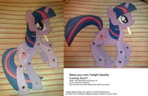 Twilight Sparkle Paper Toy by Trunksi