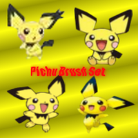 Pichu Brush Set by SuperMarioBrosWii