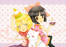 okamiden: Happy Birthday Reka by chikappi