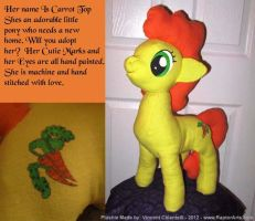 MLP FIM Plush - Carrot Top by RaptorArts