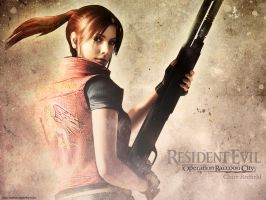 Claire Redfield wallpaper REOP by Claire-Wesker1