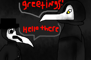Plague Doctor meets Plague Doctor by Dragonrage19