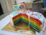 Rainbow cake by shults