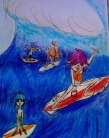 Gorillaz on the sea!  by GPopcorn4Food