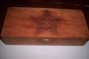celtic pentacle box - wicca by luna-plateada