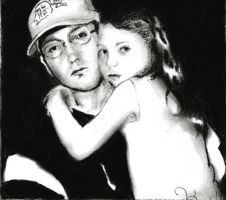 Eminem with daughter Hailie by EminemsArtist