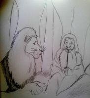 Gandalf and Aslan by FaPingMulan