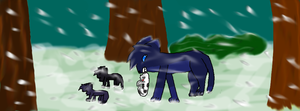 Bluefur and kits by Gizmo971
