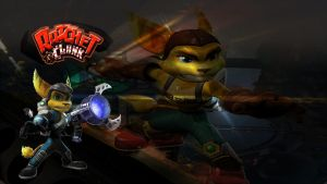 Ratchet and clank background by infersaime