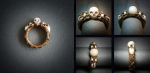 Mourning ring collage by KiraLisicka