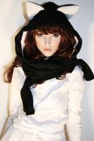 kitty hoody scarf by Nouk44