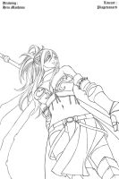 Erza chapter 172 Lineart by piagetcanard