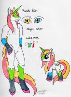 Kandi Kid Anthro and Feral ref by anne-t-cats