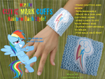 Cutie Mark Cuffs: Rainbow Dash Style by InkRose98