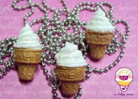 ice cream cookie cone 6 by KPcharms