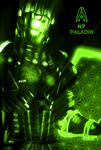 N7 Paladin NEON Poster by RedLineR91