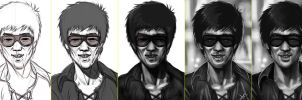 bruce lee Process by victter-le-fou