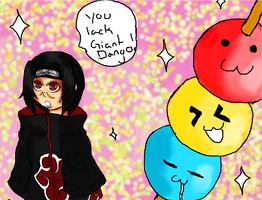 itachi and the dango by do-he-got-the-booty