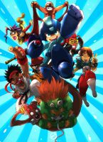 megaman x streetfighter by ibroid