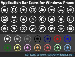 Bar Icons for Windows Phone by Ikonod