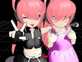 :MMD: Chibi Luka twins by Anime-Huntress