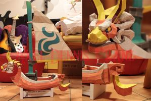 King of Red Lions - TLOZ:The Wind Waker Papercraft by Axel3601