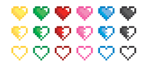 Pixel hearts. by Kukiru