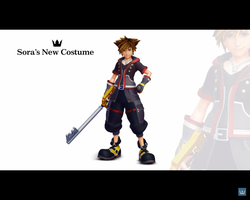 KHIII: Sora's New Costume by TheKCroxas