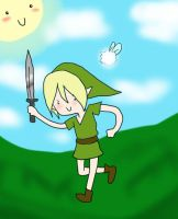 LINK,HE COME TO TOWN. by XNessNessX